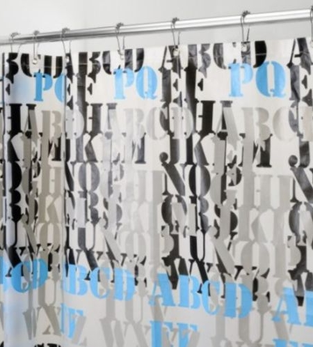 InterDesign PEVA ABC Shower Curtain